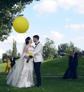 Crazy Yellow Wedding Video of Diana & Mihai in Montreal